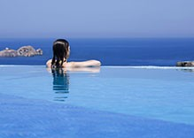 Paros Cyclades Greece House With Swimming Pool You Can Look Into From Inside The Home